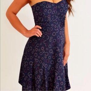 🆕AEO Navy Sweetheart Neckline Strapless Dress